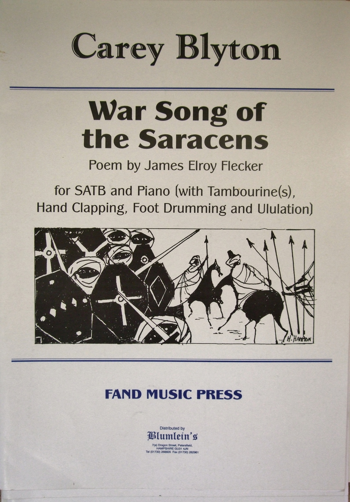 War Songs of the Saracens.